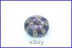 1900s Old Vintage Antique Colorful Flower Design Solid Glass Paper Weight PB68