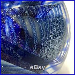 1985 STUNNING! Vintage ROBERT EICKHOLT Modern Studio Art Glass Paperweight