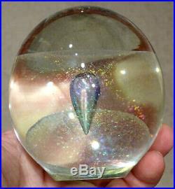 1994 Vintage ROBERT EICKHOLT Studio Art Glass PAPERWEIGHT SCULPTURE Eames Modern