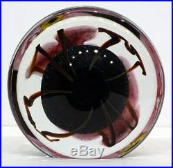 1999 Vintage ROBERT EICKHOLT Studio Art Glass PAPERWEIGHT SCULPTURE Eames Modern