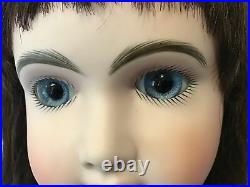25 Antique Reproduction of a French AT with Blue Glass Paperweight Eyes