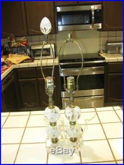 2 VINTAGE 1970's JOE ST. CLAIR PAPERWEIGHT LAMPS (Pair)