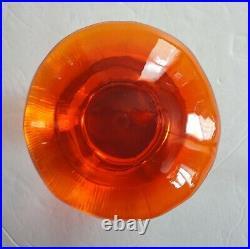 3 Vtg Tall Midcentury Modern Viking Glass Mushroom Paperweight Blue Orange Green