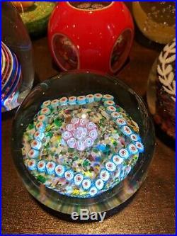 6 Vintage Murano & Chinese MILLEFIORI Art Glass Paperweights