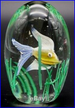 ALLURING Magnum Size Vintage MURANO FISH Aquarium ART Glass PAPERWEIGHT