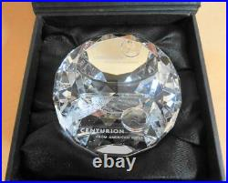 AMEX American Express Centurion Black Card Crystal Glass Paper Weight Rare