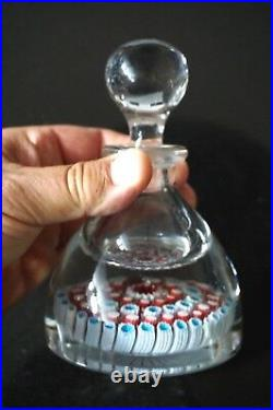 A Beautiful Vintage Inkwell Paperweight With Stunning Millefiori