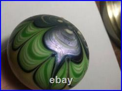 Amazing Vintage Signed Orient & Flume 1976 Paperweight