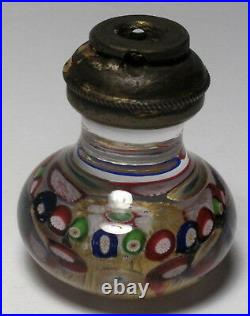 Antique Bohemian Doorknob with Concentric Millefiori Handle on clear ground
