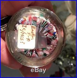 Antique Boston & Sandwich Millefiori Scramble Art Glass Paperweight