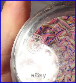Antique Vintage Baccarat Crystal Glass Paper Weight Colorful Macedoine