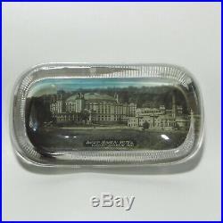 Antique Vtg West Baden Hotel Glass Paperweight Trinket Dish Indiana Souvenir