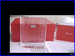 BACCARAT vintage red boxed crystal book paperweight