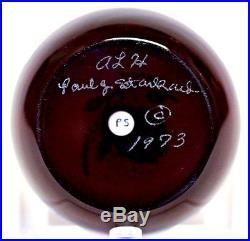 BEAUTIFUL Vintage PAUL STANKARD Art Glass MEADOW WREATH Paperweight