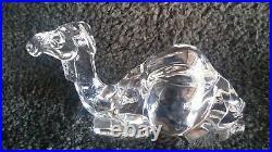 Baccarat Crystal (RARE LARGE) 10 Sitting Nativity Camel