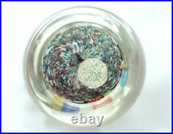 Beautiful Murano Large 3 Millefiori Fratelli Toso Paperweight withlabel FREE SHIP