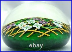 Beautiful Perthshire 1992c Annual Ltd Ed. Clematis on Trellis Paperweight