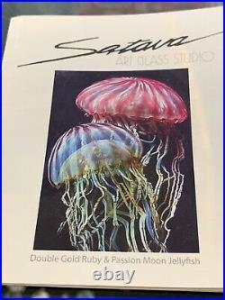 Beautiful Signed Richard Satava Hand Crafted Jellyfish Paperweight