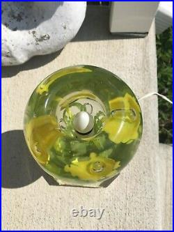 Beautiful St Clair TV Lamp Indiana paperweight glass vintage