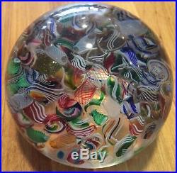 Beautiful Vintage Antique Murano Italian Art Glass Tutti Frutti Paperweight
