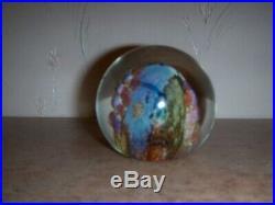 Beautiful Vintage Josh Simpson Glass 1991 underwater world Art Glass Paperweight