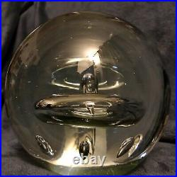 Beautifully Blown Controlled Bubble Art Glass Sphere Orb Paperweight 6x6 9Lbs