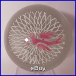 CHARMING Vintage MESSENGER OF LOVE Motif Art Glass Paperweight by Edward Rithner