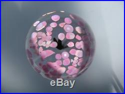 DAUM France Crystal Pink Egg Paperweight Art Glass Vintage Signed in VGC Rare