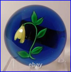 DELIGHTFUL SIGNED 1979 Victor Trabucco BELLWORT Lampwork Art Glass PAPERWEIGHT
