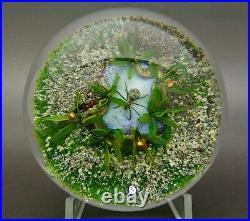 DELMO TARSITANO Earth Life Series Spider Art Glass Paperweight, Apr 2.3H x 3.5W