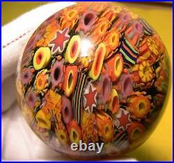 DOUG SWEET + Karuna Glass cane Marble = RARE + SIGNED Sweet