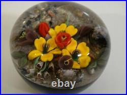 Early Mayauel Ward Paperweight Flowers on Desert Ground 1990 Environmental