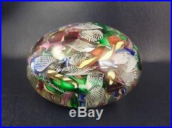 Exceptional Giant Vintage Murano Scrambled Millefiori Art Glass Paperweight