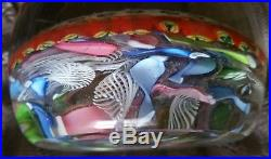 Exceptional Vintage Unsigned Italy Millefiore & Scramble Art Glass Paperweight