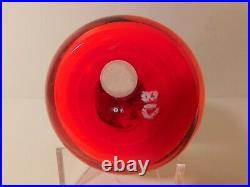 FABULOUS & SCARCE Perthshire P1972 CHRISTMAS MISTLETOE Art Glass Paperweight