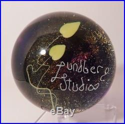 FABULOUS Vintage LUNDBERG Lampwork LUNDBERG STUDIOS Art Glass Paperweight 1981