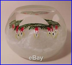 FABULOUS & Vintage Perthshire 1999 Christmas Motif Paperweight Limited Edition