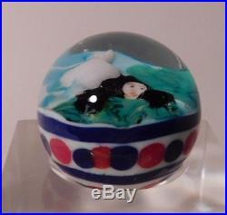 FASCINATING Vintage KAREN FEDERICI Lampwork LADIES PORTRAIT Art Glass Marble