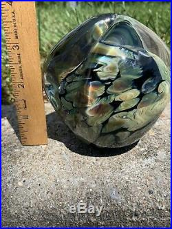 Flash SaleVintage Signed 00 Eickholt Underwater Sea Anemone Paperweight