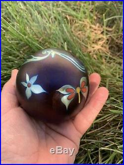 Flash SaleVintage Signed 81 Correia Iridescent Butterfly Paperweight