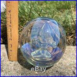 Flash SaleVintage Signed 94 Eickholt Large Opalescent Paperweight
