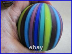 GORGEOUS Vintage Murano Fratelli Toso Rainbow Ribbons Canes Paperweight Italy