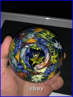 HEADY Kevin Ogrady HUGE Hand Blown MIB marble Collectible Boro Glass Murrini 3
