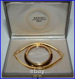 Hermes Magnifying Glass Cleopatre Loupe Oeil Paperweight Vintage Authentic