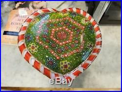 Huge Vintage Basket of Flowers Paperweight With Base Clichy knockoff