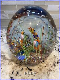 Huge Vintage Heavy Murano 8 Pounds! Art Glass Fish Aquarium Sculpture