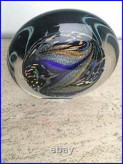 Incredible Rollin Karg Dichroic Art Glass Sculpture Large & Heavy Signed