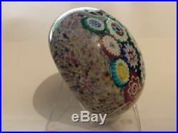 Italian Antique / Early Vintage Murano Millefiori Art Glass Paperweight