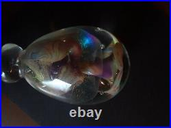 John Barber Large Art Glass Paperweight Sculpture Signed 6.5 inches Vintage 1982