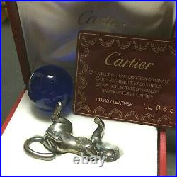 Junk Cartier Panther Paper Weight SV925 Silver pre-owned withBox Broken